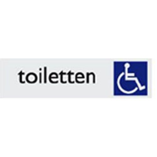 Toiletten mindervalide (Alu-Look)