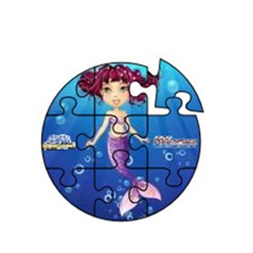 Aqua Game Puzzel Zeemeermin (rond)
