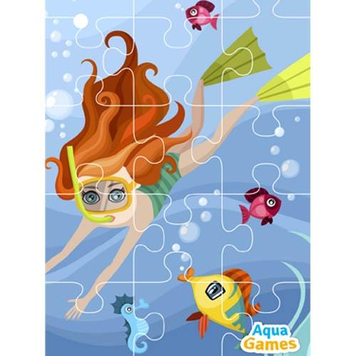 Aqua Game Puzzel Meisje