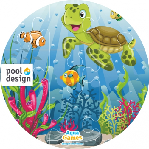 Aqua Game Puzzel Schildpad (rond)