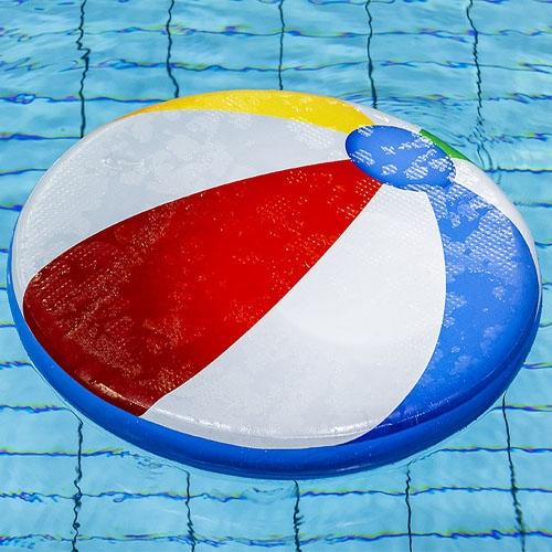 Drijfmat Strandbal Gekleurd