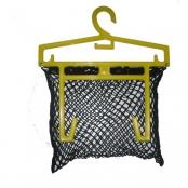 Kunststof kledinghaak met net