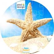 Aqua Game Puzzel Zeester (rond)