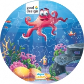 Aqua Game Puzzel Octopus (rond)