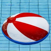 Drijfmat Strandbal Rood