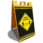 Houd Afstand geel Signicade