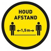 Houd afstand vloersticker Ø 200 mm